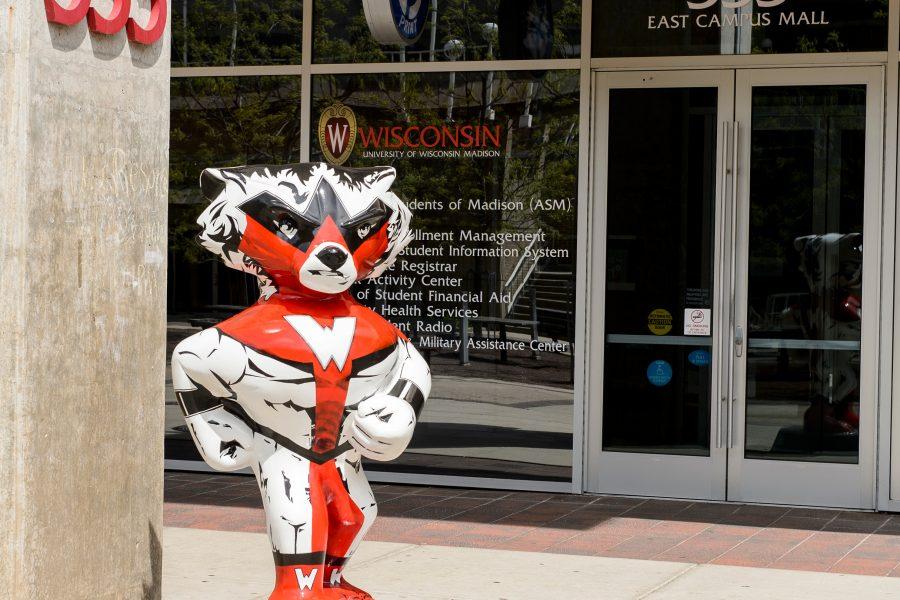 Bucky Badger statue